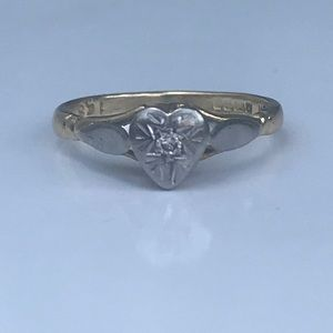 18K Victorian Antique Diamond Engagement Ring